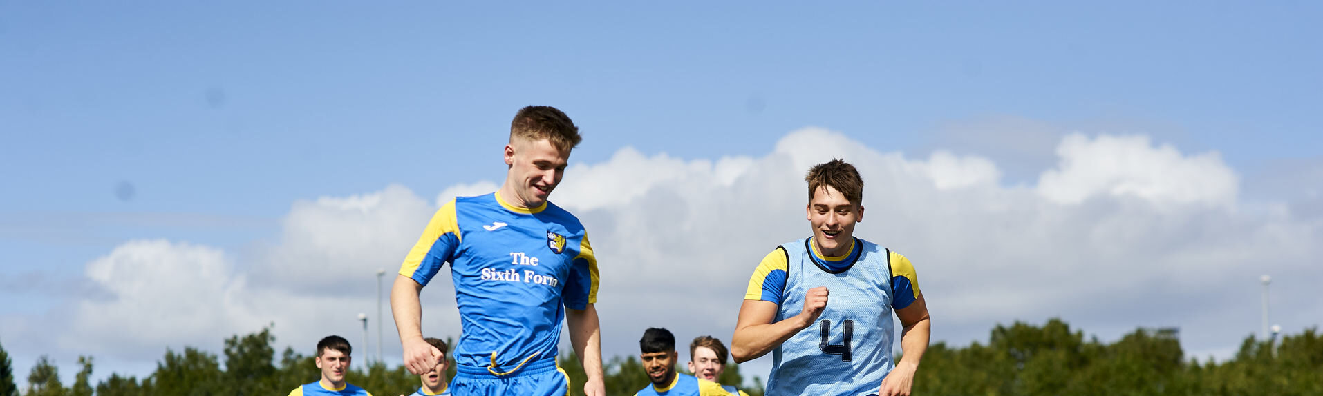 Sixth Form students playing football