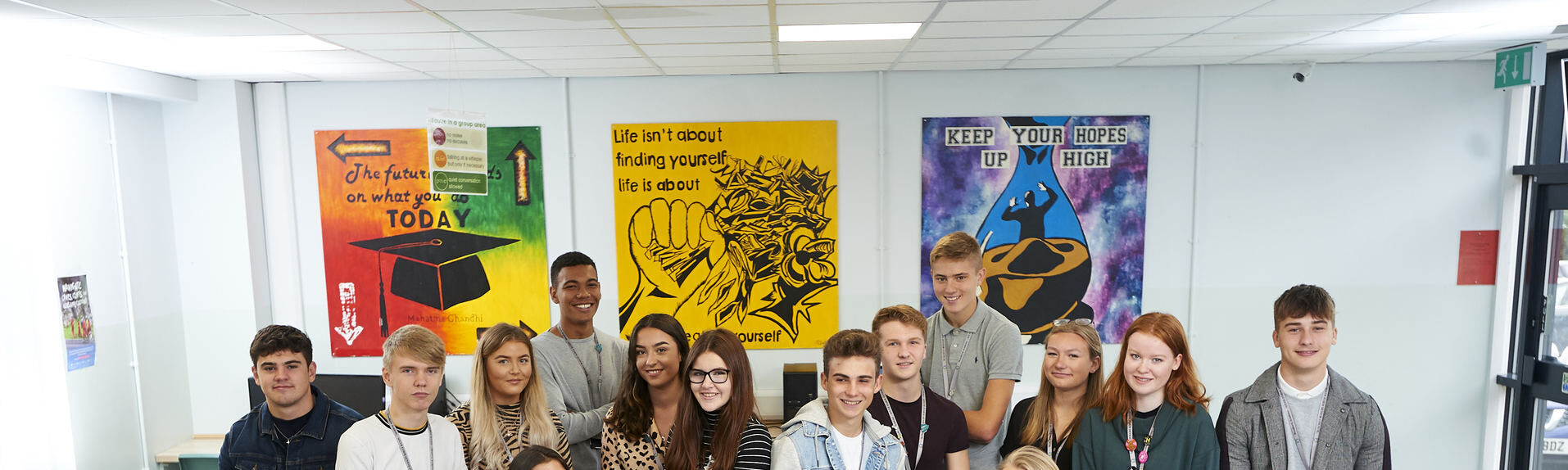 The Sixth Form Senior Council, assembled together in the common room